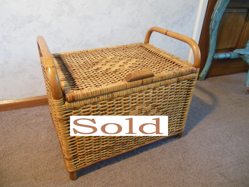 Nice wicker storage box.